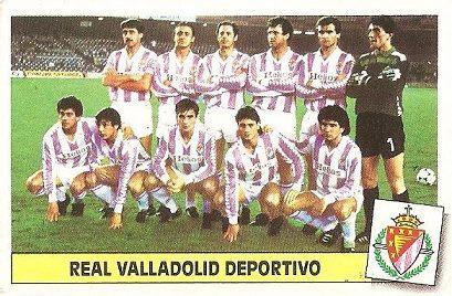 Liga 86-87. Alineación Real Valladolid (Real Valladolid). Ediciones Este.