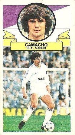 Liga 85-86. Camacho (Real Madrid). Ediciones Este.