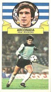 Liga 85-86. Arconada (Real Sociedad). Ediciones Este.