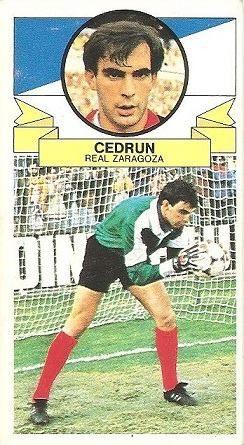 Liga 85-86. Cedrún (Real Zaragoza). Ediciones Este.