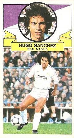 Liga 85-86. Fichaje Nº 19 Hugo Sánchez (Real Madrid). Ediciones Este.