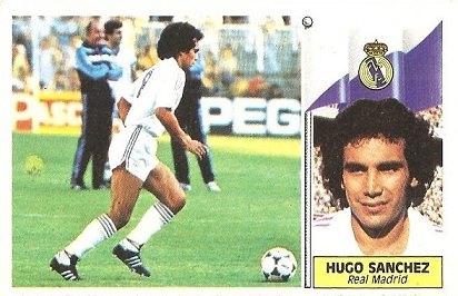 Liga 86-87. Hugo Sánchez (Real Madrid). Ediciones Este.