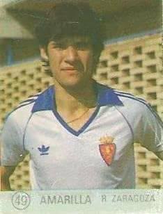 1983 Selección de Fútbol Liga Española. Amarilla (Real Zaragoza). Editorial Mateo Mirete.