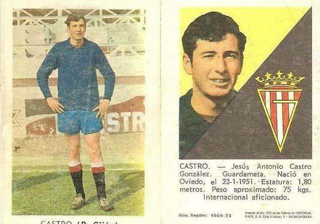 Liga 70-71. Castro (Real Sporting de Gijón). Editorial Fher.