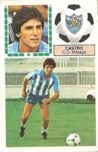 Liga 83-84. Castro (C.D. Málaga). Ediciones Este.