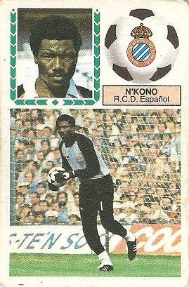 Liga 83-84. N´Kono (R.C.D. Español). Ediciones Este.