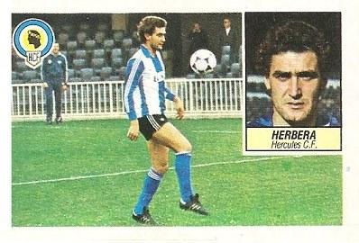 Liga 84-85. Herbera (Hércules C.F.). Ediciones Este.
