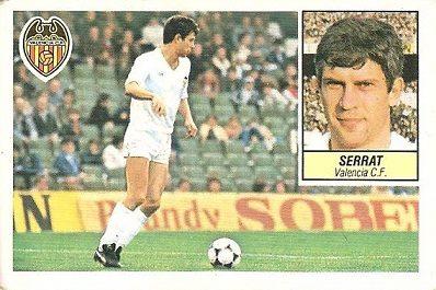 Liga 84-85. Serrat (Valencia C.F.). Ediciones Este.