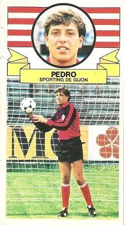 Liga 85-86. Pedro (Real Sporting de Gijón). Ediciones Este.