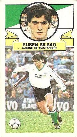 Liga 85-86. Rubén Bilbao (Racing de Santander). Ediciones Este.