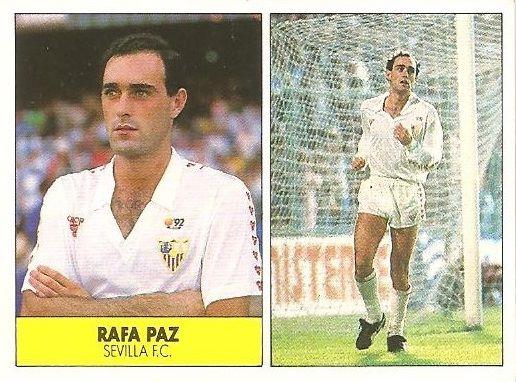 Liga 87-88. Rafa Paz (Sevilla F.C.). Ediciones Festival.
