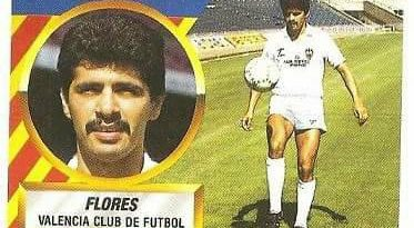 Liga 88-89. Fichaje Nº 8 Flores (Valencia C.F.). Ediciones Este.