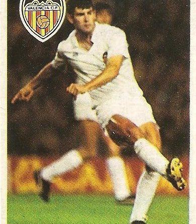 Diego Armando Maradona. Sus driblings. Sus goles. Liga 84-85. Mis entrenamientos. Serrat (Valencia C.F.). Cromo Esport.