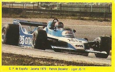 Grand Prix Ford 1982 .Patrick Depailler (Ligier). Editorial Danone.