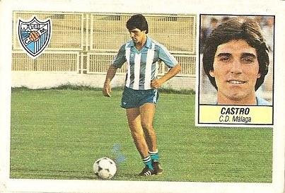 Liga 84-85. Castro (C.D. Málaga). Ediciones Este.
