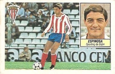 Liga 84-85. Espinosa (Sporting de Gijón). Ediciones Este.