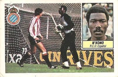 Liga 84-85. N´Kono (R.C.D. Español). Ediciones Este.