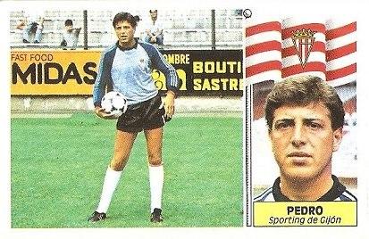 Liga 86-87. Pedro (Real Sporting de Gijón). Ediciones Este.