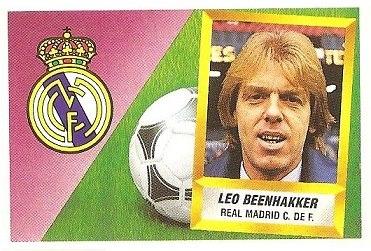 Liga 88-89. Leo Beenhakker (Real Madrid C.F.). Ediciones Este.