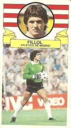 Liga 85-86. Fillol (Coloca por Pereira) (Atlético de Madrid). Ediciones Este.