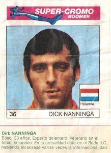 Super Cromos Los Mejores del Mundo (1981). Nanninga (Holanda). Chicle Fútbol Boomer.