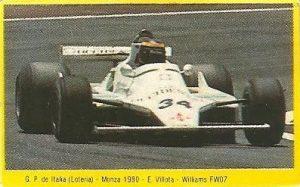 Grand Prix Ford 1982. Emilio de Villota (Williams). (Editorial Danone).