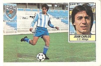 Liga 84-85. Juan Carlos (C.D. Málaga). Ediciones Este.