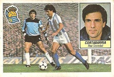 Liga 84-85. Cortabarría (Real Sociedad). Ediciones Este.