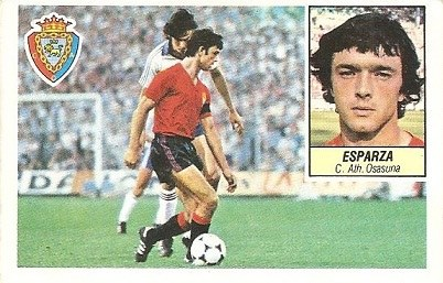 Liga 84-85. Esparza (Club Atlético Osasuna). Cromos Cano.