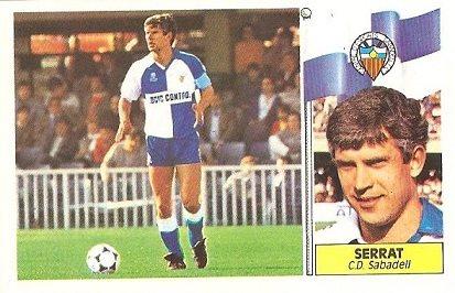 Liga 86-87. Serrat (C.E. Sabadell). Ediciones Este.