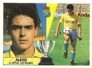Liga 87-88. Alexis (U.D. Las Palmas). Ediciones Este.