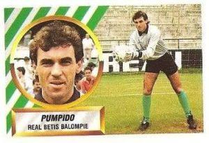 Liga 88-89. Pumpido (Real Betis). Ediciones Este.