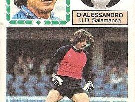Liga 83-84. D'Alessandro (U.D. Salamanca). Ediciones Este.