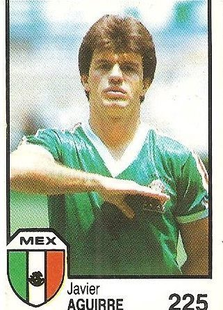 México 86. Javier Aguirre (México) Cromos Barna.