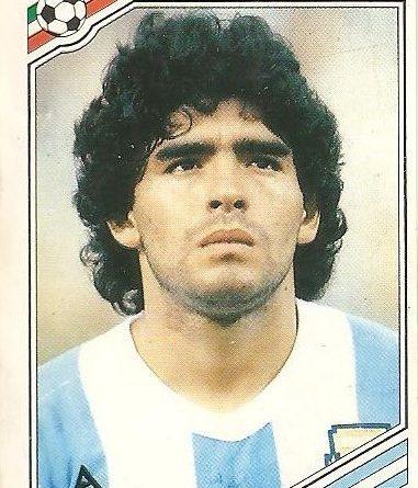 México 86. Maradona (Argentina) Ediciones Panini.