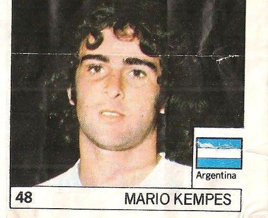 Super Cromos Los Mejores del Mundo (1981). Kempes (Argentina). Chicle Fútbol Boomer.