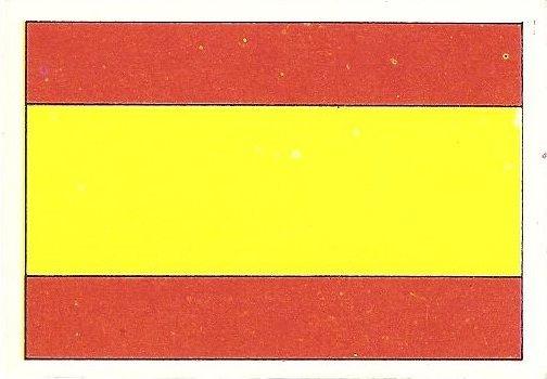 Eurocopa 1984. Bandera España (España). Editorial Fans Colección.