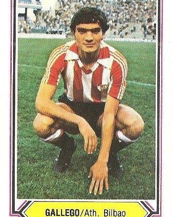 Liga 80-81. Gallego (Ath. Bilbao). Ediciones Este.