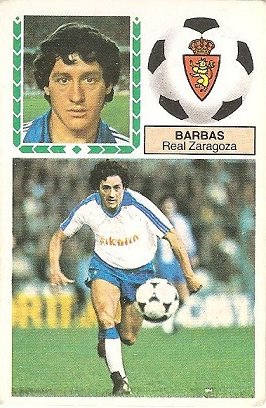Liga 83-84. Barbas (Real Zaragoza). Ediciones Este.