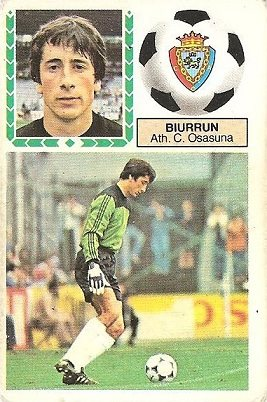 Liga 83-84. Biurrun (C.A. Osasuna). Ediciones Este.