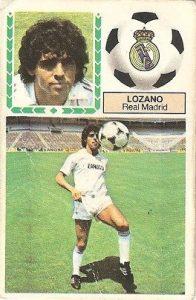 Liga 83-84. Lozano (Real Madrid). Ediciones Este.