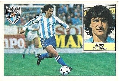 Liga 84-85. Albis (C.D. Málaga). Ediciones Este.