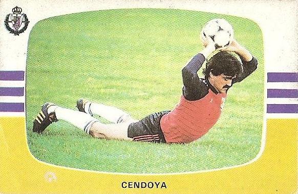 Liga 84-85. Cendoya (Real Valladolid). Cromos Cano.