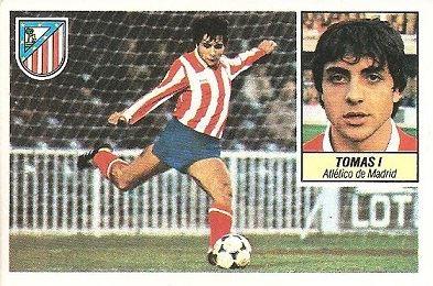 Liga 84-85. Tomás (Atlético de Madrid). Ediciones Este.