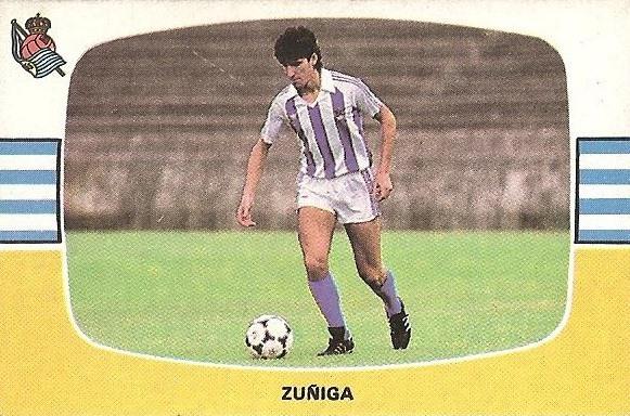 Liga 84-85. Zuñiga (Real Sociedad). Cromos Cano.