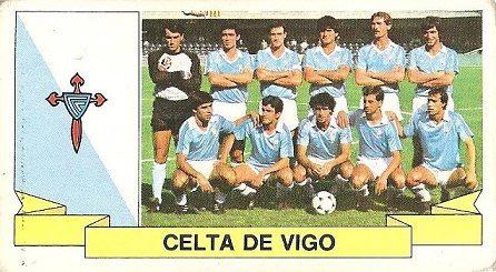 Liga 85-86. Alineación Real Club Celta de Vigo (Real Club Celta de Vigo). Ediciones Este.
