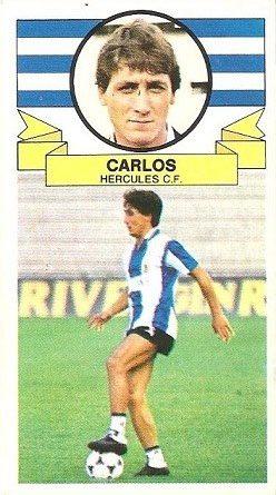 Liga 85-86. Carlos (Hércules C.F. ). Ediciones Este.