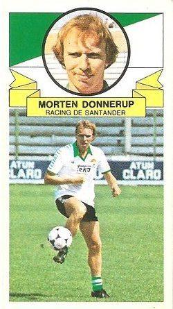Liga 85-86. Morten Donnerup (Racing de Santander). Ediciones Este.