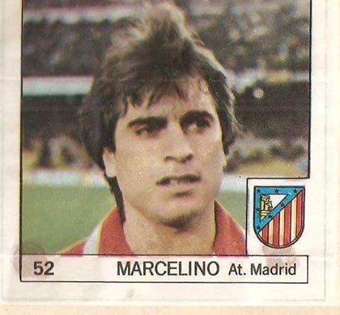 Super Cromos Los Mejores del Mundo (1981). Marcelino (Atlético de Madrid). Chicle Fútbol Boomer.