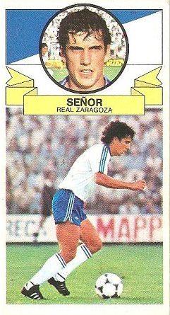 Liga 85-86. Señor (Real Zaragoza). Ediciones Este.